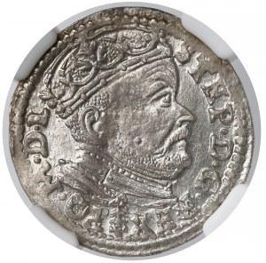 Stefan Batory, Trojak Wilno 1585 - herb Lis - NGC MS62