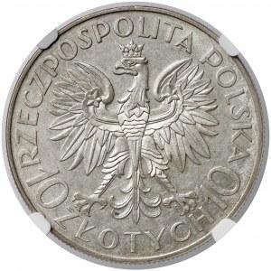 Sobieski 10 złotych 1933 - NGC MS61