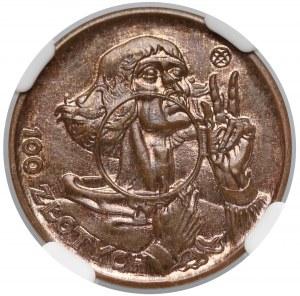 Próba BRĄZ 100 złotych 1925 Kopernik