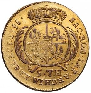 August III Sas, 5 talarów 1758 EC -