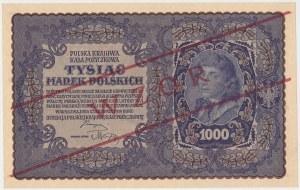 WZÓR 1.000 mkp 08.1919 - I Serja E