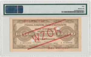 WZÓR 100.000 mkp 1923 - A - perforacja - PMG 50