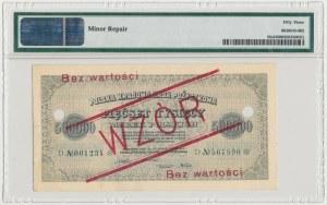 WZÓR 500.000 mkp 1923 - 6 cyfr - D - perforacja - PMG 53