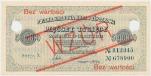 WZÓR 500.000 mkp 1923 - 6 cyfr - Serja X