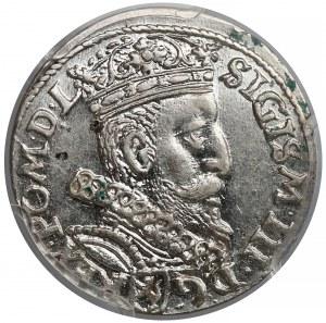 Zygmunt III Waza, Trojak Kraków 1601 - w prawo - PCGS MS62