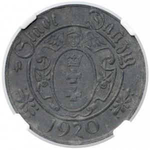 Gdańsk, 10 fenigów 1920 - 61 perełek