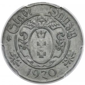 Gdańsk, 10 fenigów 1920 - 57 perełek - PCGS MS61