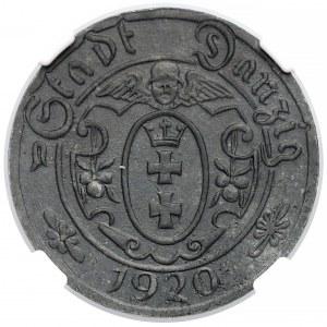 Gdańsk, 10 fenigów 1920 - 56 perełek - rzadkie - NGC MS63