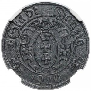 Gdańsk, 10 fenigów 1920 - 54 perełki - NGC MS61