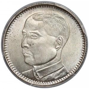 Chiny, Republika, Kwangtung, 20 centów rok 18 (1929) - PCGS MS63