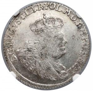 August III Sas, Złotówka Gdańsk 1762 REOE