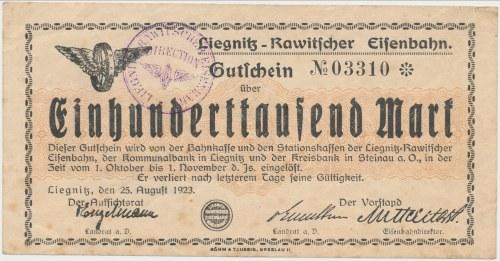 Liegnitz-Rawitscher Eisenbahn (Kolej Legnicko-Rawicka), 100.000 mark 1923