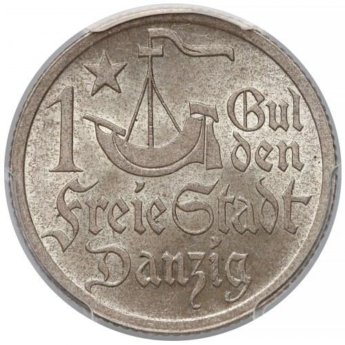 Gdańsk, 1 gulden 1923 - PCGS MS65