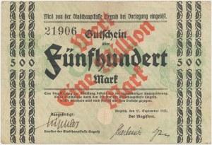 Liegnitz (Legnica), 1 mln mark PRZEDRUK z 500 mark 1922