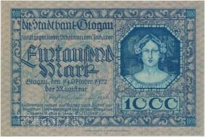 Glogau (Głogów), 1.000 mark 1922 - perforacja UNGÜLTIG