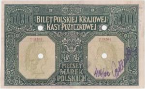 Falsyfikat z epoki 500 mkp 01.1919