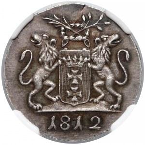 Wolne Miasto Gdańsk, Grosz 1812-M - CZYSTE srebro - NGC MS63