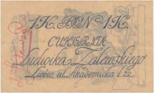 Lwów, Cukiernia Ludwika Zalewskiego, 1 korona (1918)