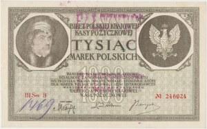 Falsyfikat z epoki 1.000 mkp 05.1919 - III Ser.B