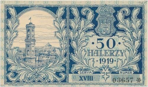 Lwów, 50 halerzy 1919 - Ser. XVIII