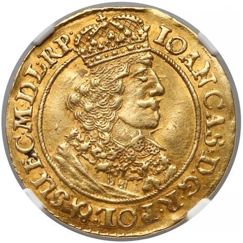 Jan II Kazimierz, Dukat Gdańsk 1649 GR - NGC AU55
