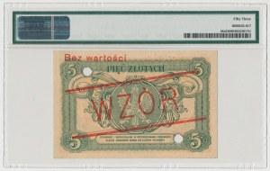 WZÓR 5 złotych 1925 Konstytucja - Nr 4 - PMG 53