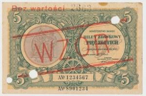 WZÓR 5 złotych 1925 Konstytucja - Nr 2663