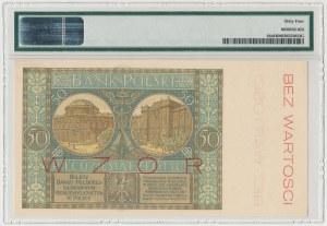 WZÓR 50 złotych 1925 - Ser.A - PMG 64