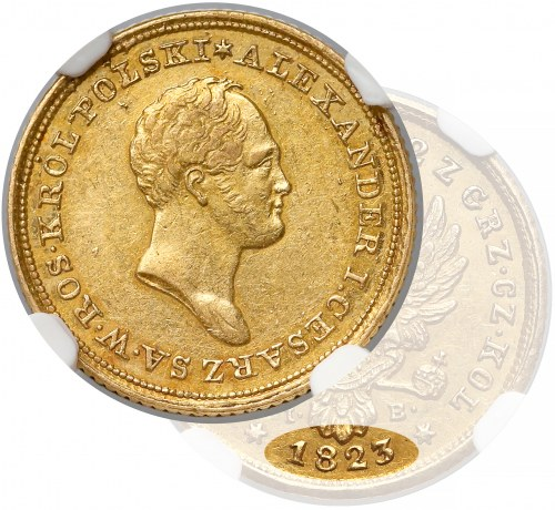 25 złotych polskich 1823 IB - RZADKOŚĆ- NGC AU58