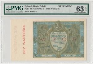 WZÓR 20 złotych 1926 - Ser.S - PMG 63 EPQ