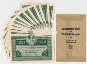 Niemcy, Thale am Harz, KOMPLETNA SERIA 12 x 50 pfennig 1921/1922