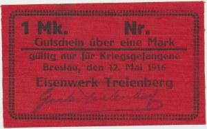 Obóz Trelenberg (Wrocław), 1 mark 1916 - czerwony