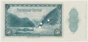ABNCo 50 złotych 1939 - SPECIMEN 00000