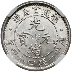 Chiny, Fukien, 20 cents (około 1896-1903) - NGC MS62