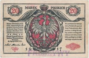 Falsyfikat z epoki 20 mkp 1916 Generał