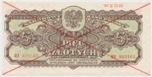 WZÓR 5 złotych 1944 ...owe - HY
