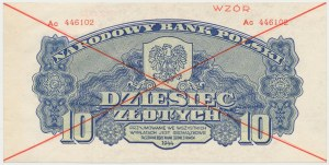 WZÓR 10 złotych 1944 ...owe - Ac
