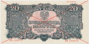 WZÓR 20 złotych 1944 ...owe - KM