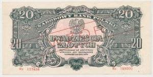 WZÓR 20 złotych 1944 ...owe - Rz - seria zastępcza