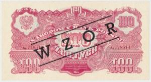 100 złotych 1944 ...owe - Ax z nadrukiem WZÓR