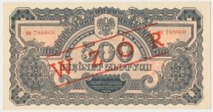 500 złotych 1944 ...owe - BH z nadrukiem WZÓR