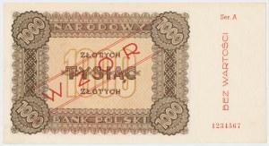 WZÓR 1.000 złotych 1945 - Ser.A