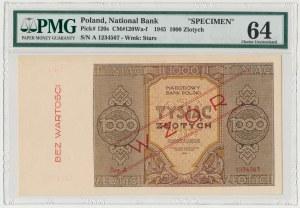 WZÓR 1.000 złotych 1945 - Ser.A - PMG 64