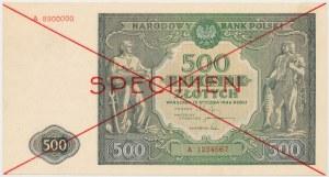 SPECIMEN 500 złotych 1946 - A