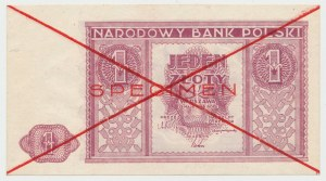 SPECIMEN 1 złoty 1946