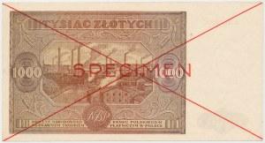 SPECIMEN 1.000 złotych 1946 - A.