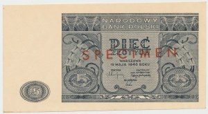 SPECIMEN 5 złotych 1946