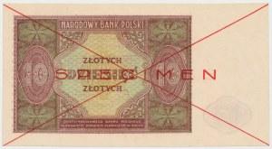 SPECIMEN 10 złotych 1946