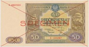 SPECIMEN 50 złotych 1946 - A