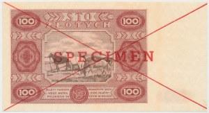 SPECIMEN 100 złotych 1947 - Ser.A